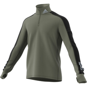 adidas Warm 1/2 Zip Shirt Men, legacy green